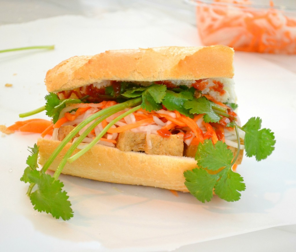 The Vietnamese Banh Mi is my favorite sandwich because of the combination of wildly different flavors and the freshness of it. Perfect for spring!