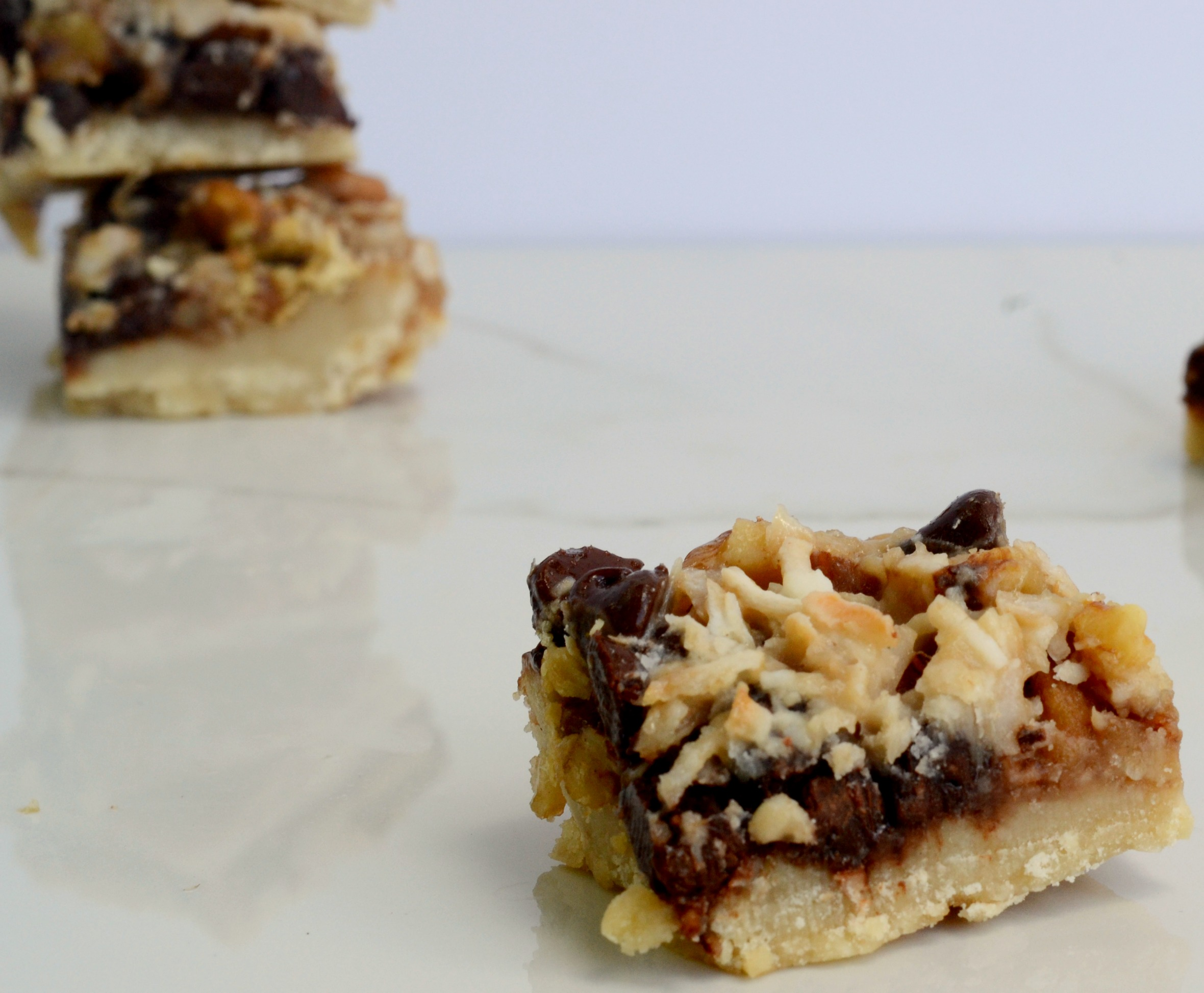 It might be hard to believe that these five layer bars can be vegan but it is true! Vegan food can be fun!   www.thesurferskitchen.com