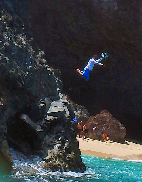paddleboarding on Kauai