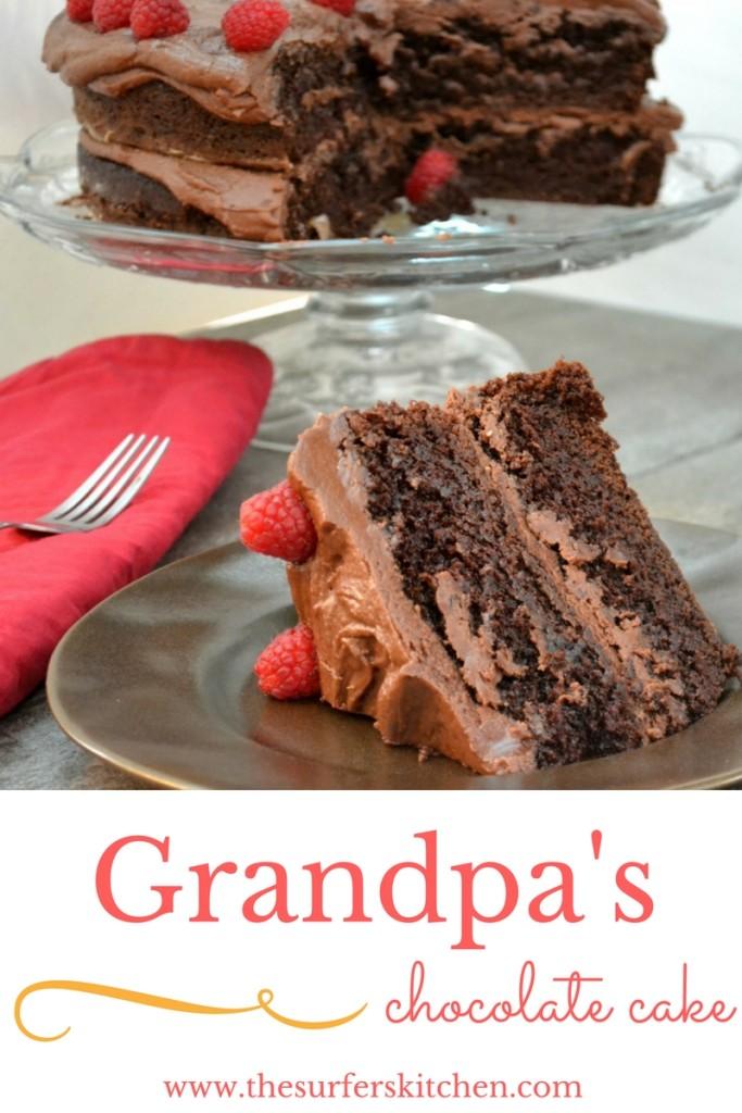 grandpa chocolate cake long pin