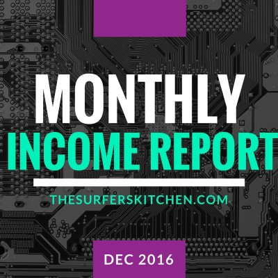 Monthly Income and Business Report–December 2016