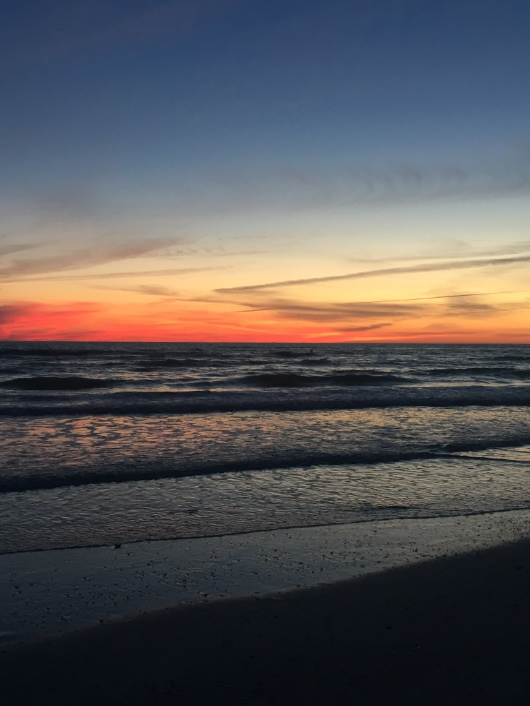 sunset at lido beach in sarasota
