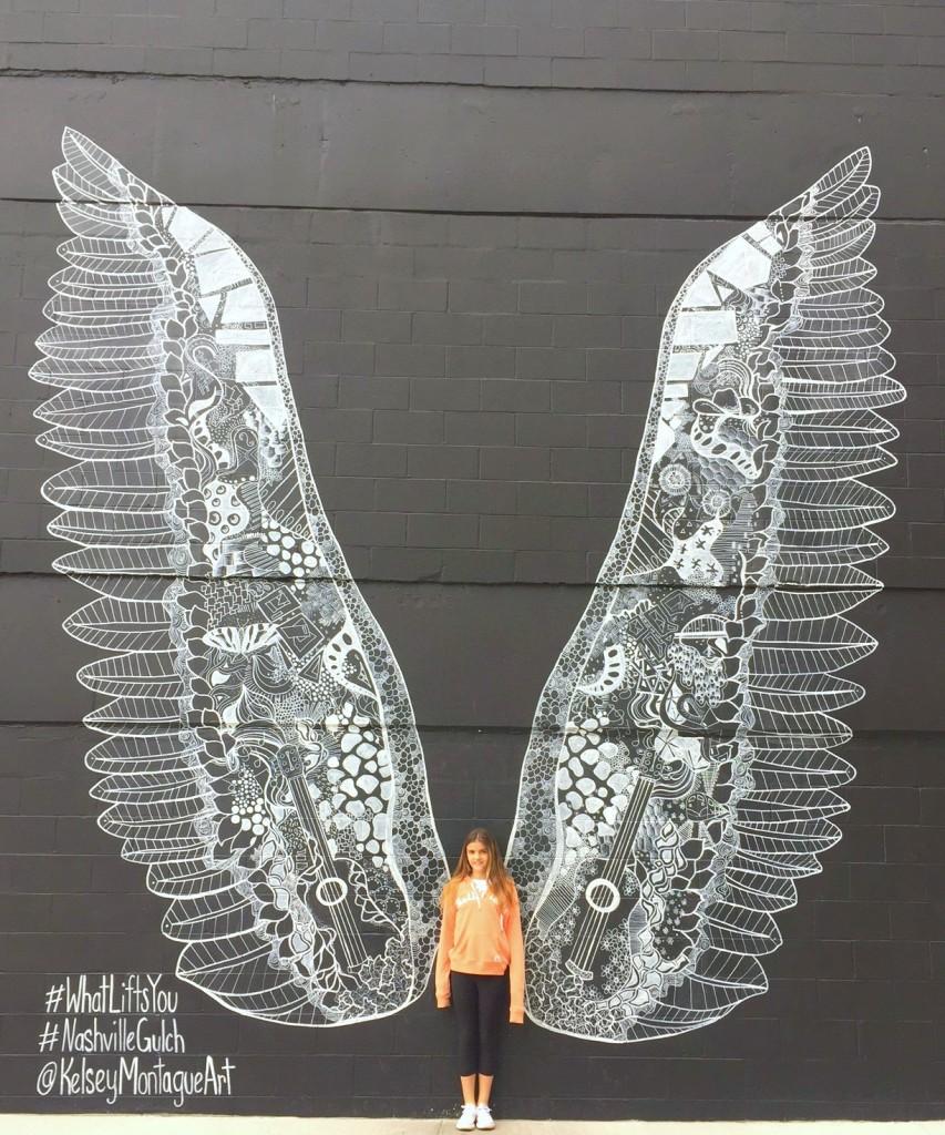 Wings Mural Nashville