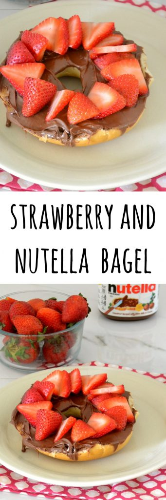 Strawberry Nutella Bagel