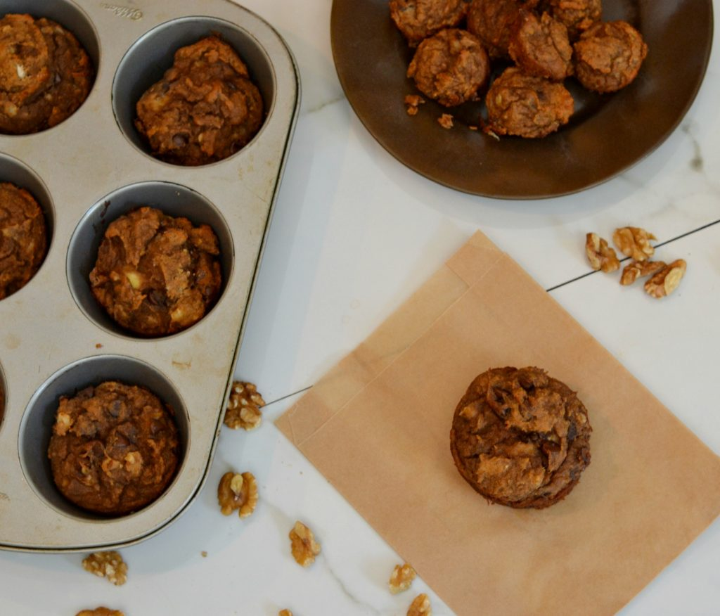 Peanut Butter Banana Muffins| A taste of fall and a great way to use up old bananas. www.thesurferkitchen.com