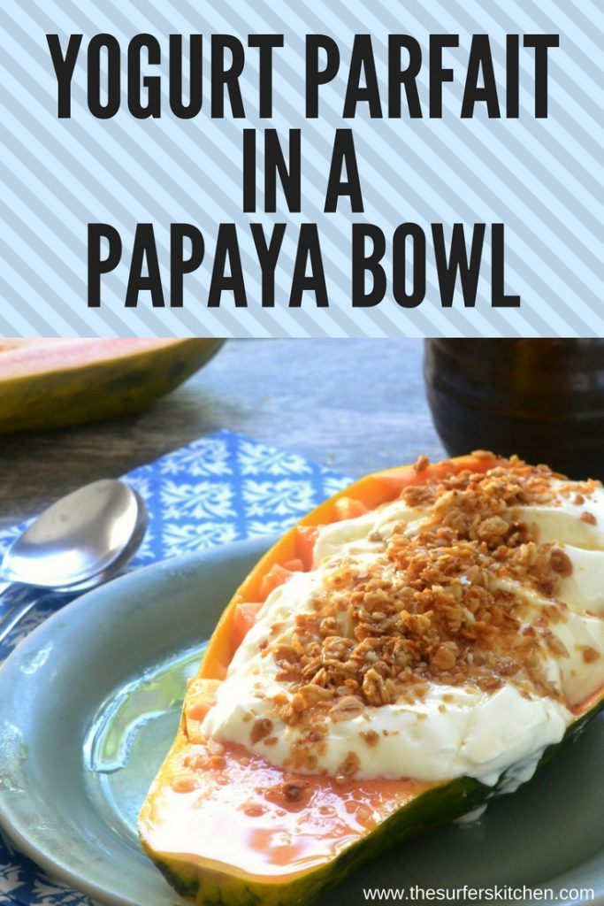 Yogurt Parfait in a Papaya Bowl| A simple and healthy meal that adds brightness to your day.