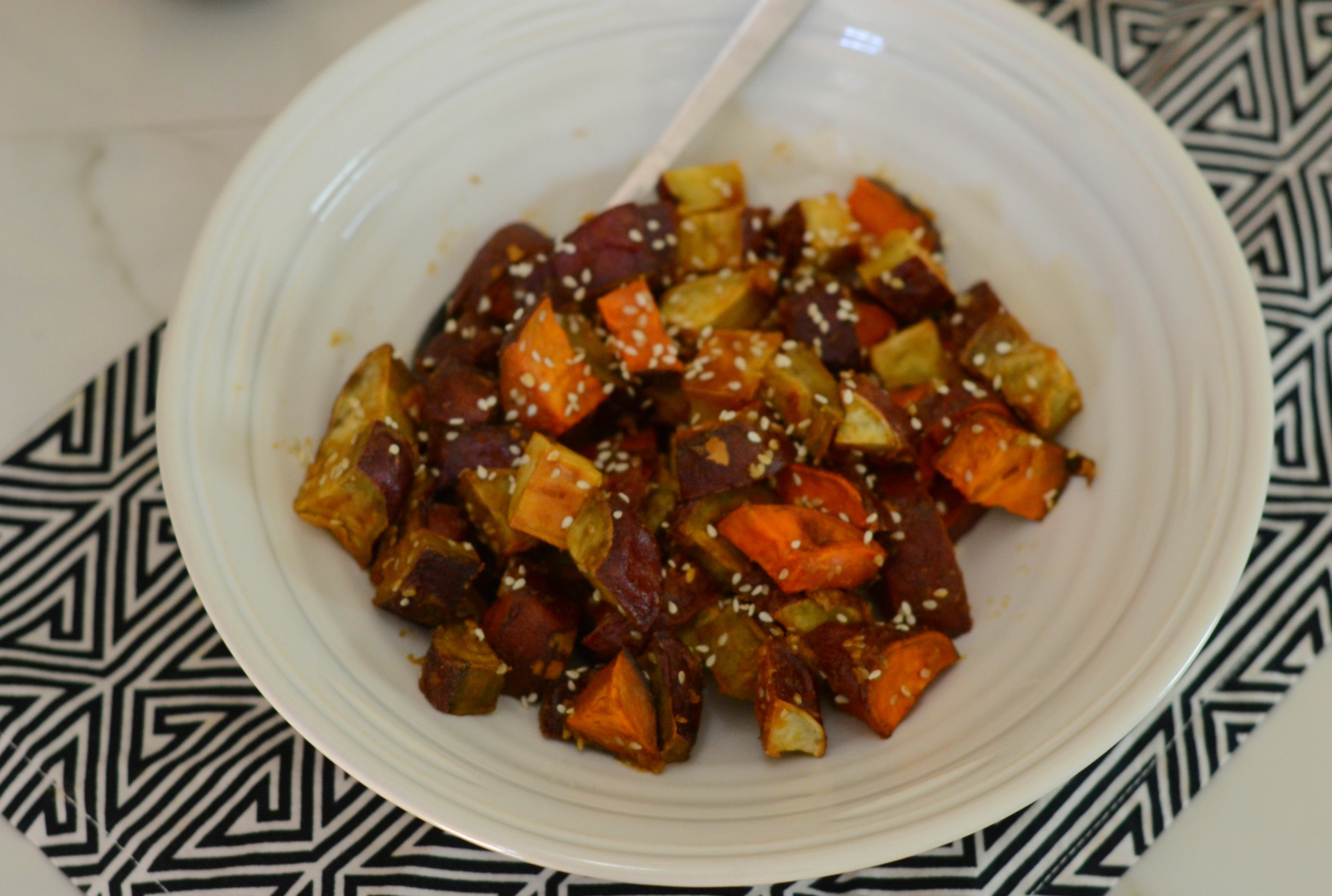 One of my favorite restaurants has these miso glazed sweet potatoes on the menu and I had to recreate them. So rich in flavor and healthy. Add to your Thanksgiving table, or any night of the week. | www.thesurferskitchen.com