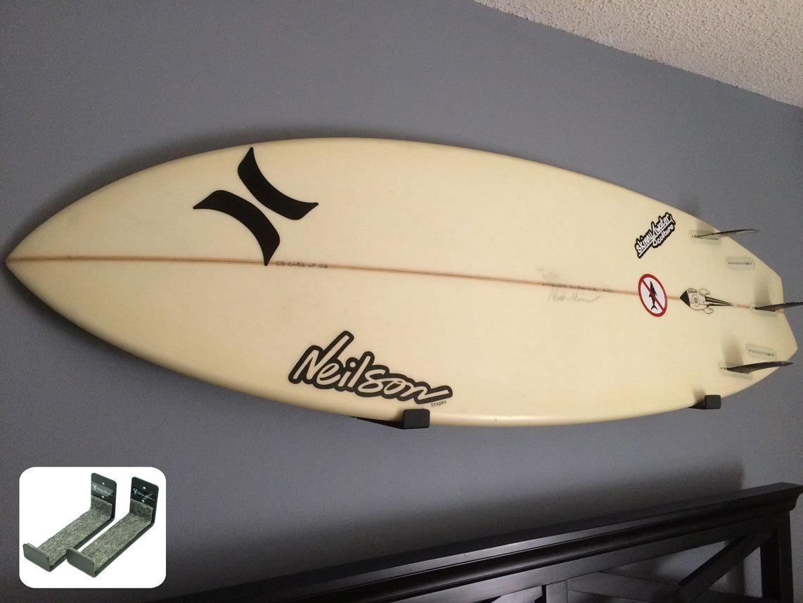 Looking for a simple and effective way to store and display your quiver? We love this minimalist surf rack. | www.thesurferskitchen.com