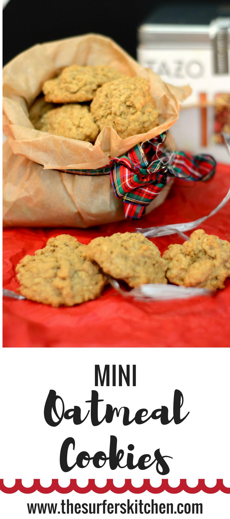 homemade mini oatmeal cookies
