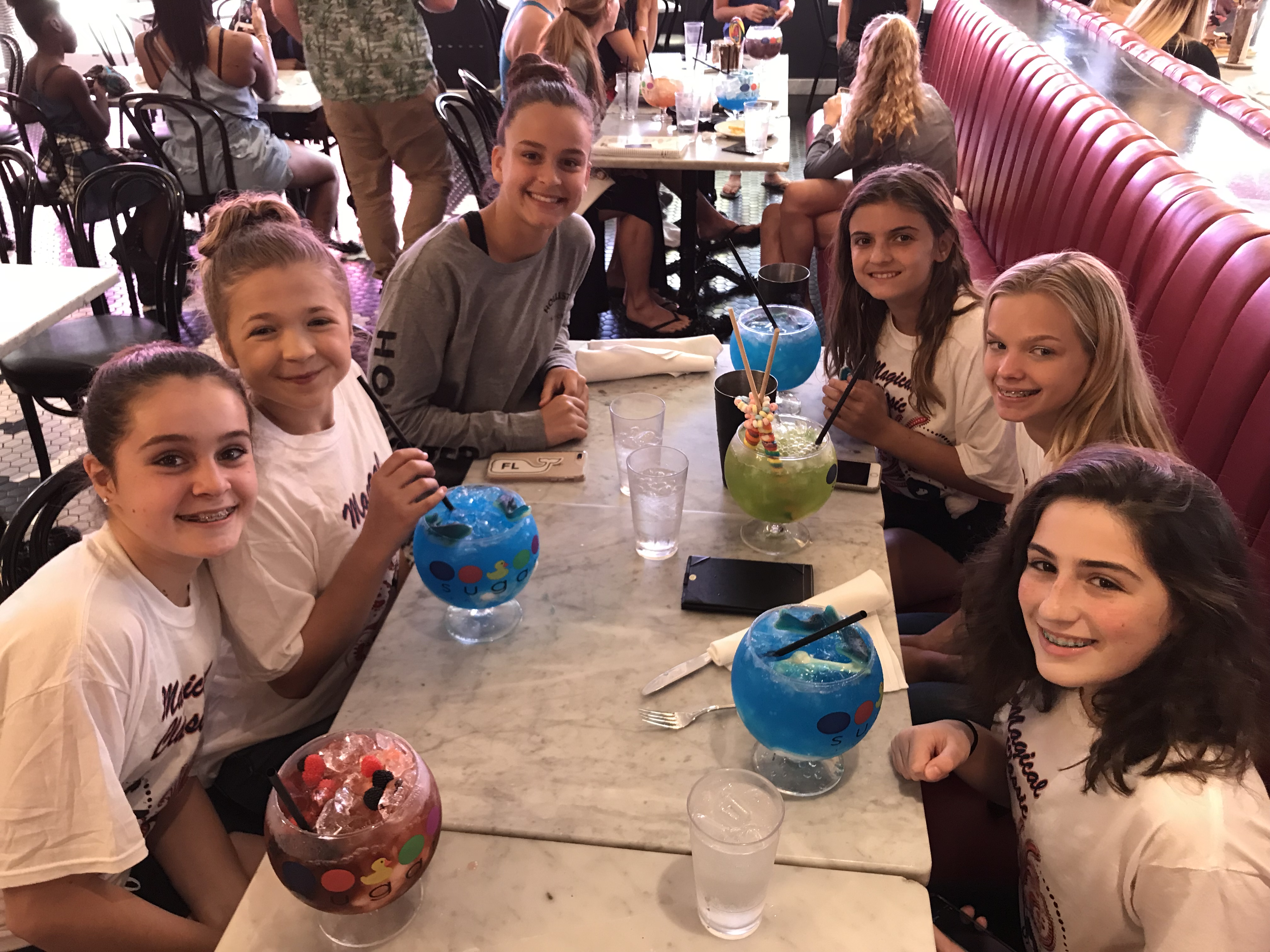 gymnasts at the sugar factory