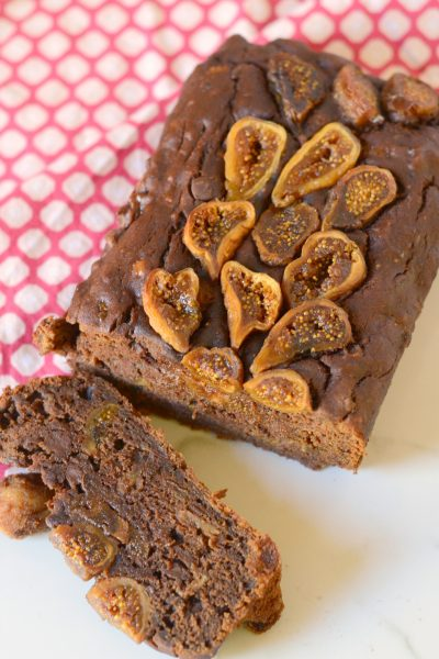 Gluten Free Chocolate Fig Banana Bread