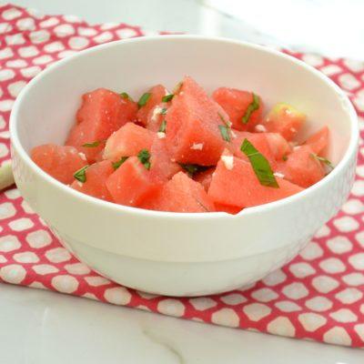 Watermelon Feta Basil Salad