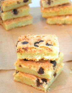 Hawaiian Butter Mochi with Chocolate chips