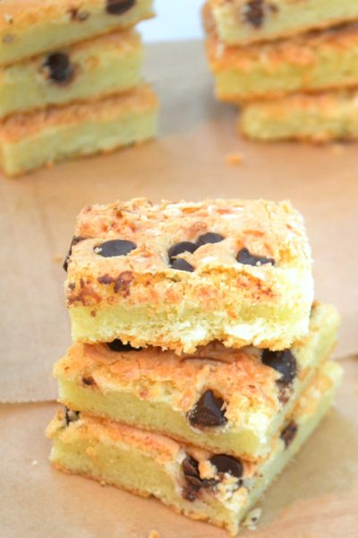 Chocolate Chip Butter Mochi