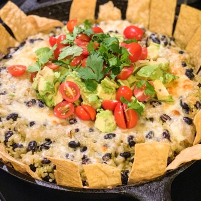 Chipotle Black Bean and Cilantro Rice Bake