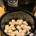 Air Fryer with tofu Blocks